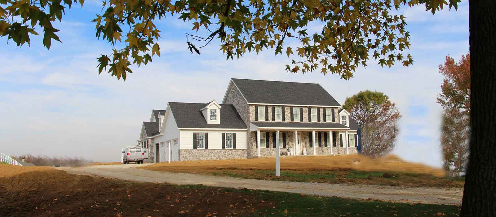Existing homes at Farview Farms Estates.